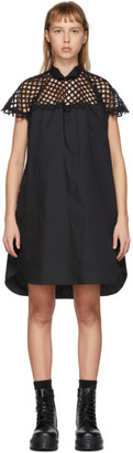 Sacai Black Mesh Panel Dress