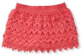 Jessica Simpson 7-16 Dayna Crochted Lace Dobby-Pattern Shorts