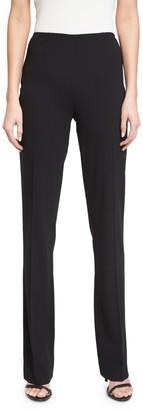 Ralph Lauren Collection Alandra Side-Zip Stretch-Wool Pants, Black