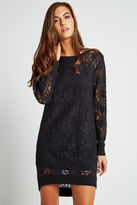BCBGeneration Floral Lace Cocoon Dress - Black