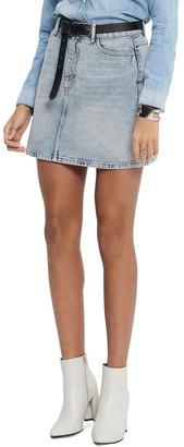 Only Rose Life A Shape Denim Skirt Lt