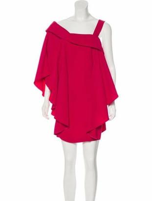 Antonio Berardi Draped Mini Dress Pink