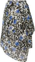 Christian Wijnants Saga floral print asymmetric skirt