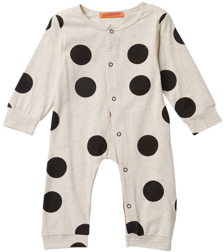 Funkyberry Polka Dot Coverall (Baby Girls)