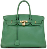 Hermes Vintage Bamboo Birkin Courchevel Satchel Bag, Green