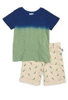 Splendid Boy's Dip Dyed T-Shirt & Shorts Set