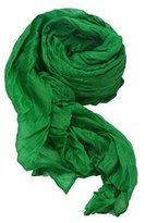 Women Cotton Scarf Soft Wrap Shawl Ninasill Scarf (Green)