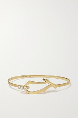 Jade Trau Lola 18-karat Gold Diamond Bangle - S