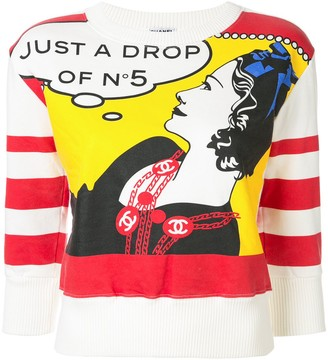 Chanel Pre Owned CC Mademoiselle print top