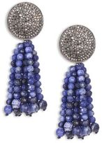 Nest Sodalite Tassel Earrings
