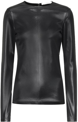 Givenchy Faux leather top