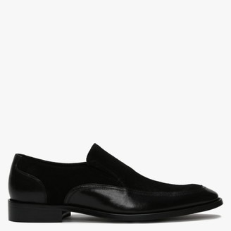 Daniel Xyle Black Leather & Suede Loafers