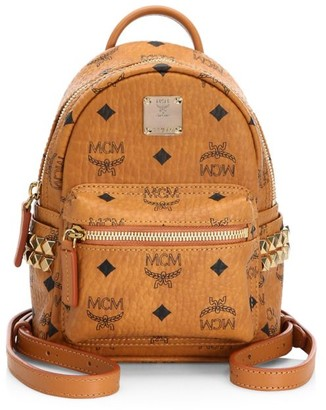 MCM Bebe Boo X Mini Studded Coated Canvas Backpack