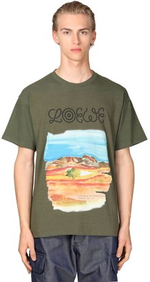 Loewe Eye nature Cotton Jersey T-shirt