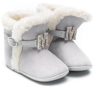 MonnaLisa Faux Fur Buckle Boots
