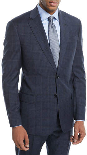 Emporio Armani Plaid Two-Piece Wool Suit