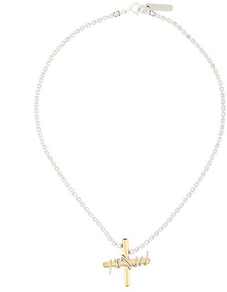 Mismatched Cross Necklace