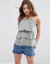 Asos Cami With Washed Ruffles