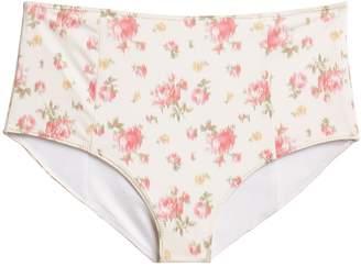 LoveShackFancy Mason High Waisted Bikini Bottoms