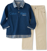 Calvin Klein Little Boys' 2Pc Knit Woven Set