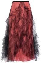 Valentino Pleated Tulle Ruffled Skirt