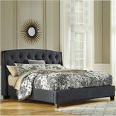 Signature Design by Ashley Kasidon California King Button Tufted Upholstered Bed
