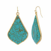 Natasha Accessories Natasha Blue Gold-Tone Drop Earrings