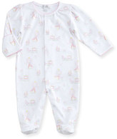 Kissy Kissy Fairy Tale Princess Printed Pima Footie Pajamas, Pink/White, Size 0-9 Months