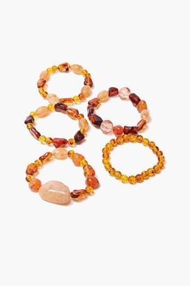 Forever 21 Faux Stone Bracelet Set