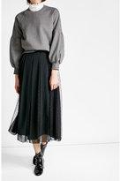 Burberry Cotton Sweatshirt with Voluminous Sleeves
