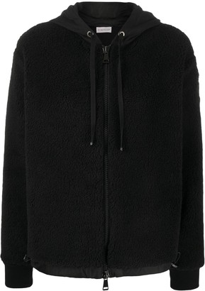 Moncler Fleece Pattern Zip-Up Jacket
