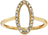 Rebecca Minkoff 0 Shaped Pave Ring