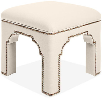 Bunny Williams Home Taj Stool - Natural Linen