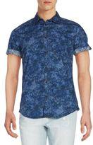 CK Calvin Klein Regular-Fit Confetti Camo-Print Shirt