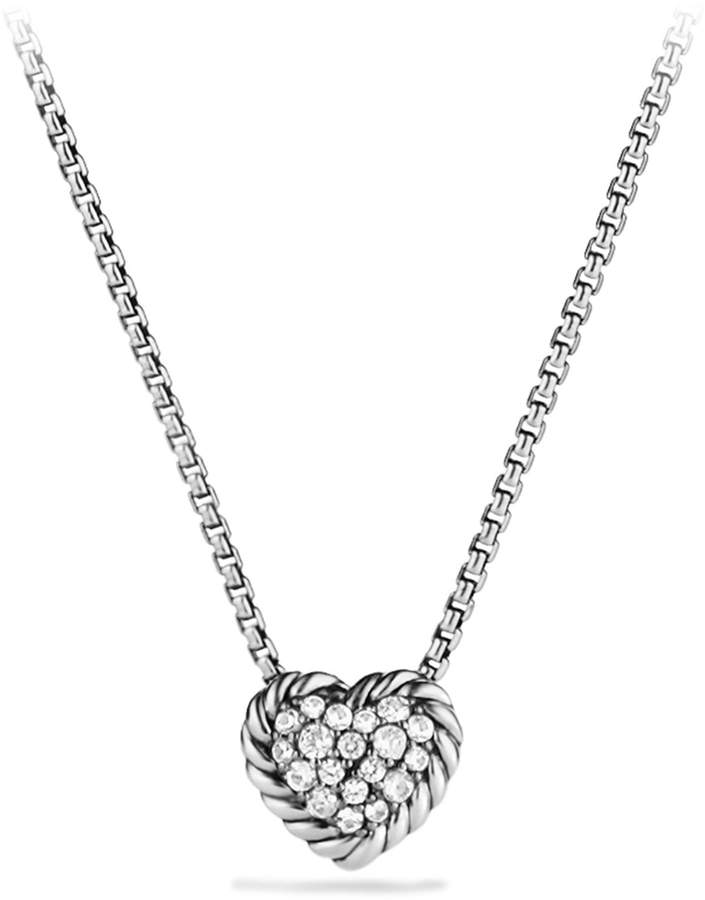 David Yurman 'Chatelaine' Heart Pendant Necklace with Diamonds