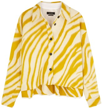 Isabel Marant Hanao yellow printed wool jacket