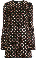 Saint Laurent eyelet embellished dress