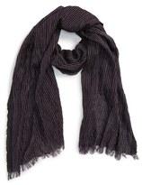 John Varvatos Men's Stripe Silk & Cotton Scarf