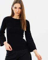 Karen Millen Contrast Ribbed Knit Jumper