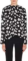 Balenciaga Women's Daisy-Print Silk Peasant Blouse