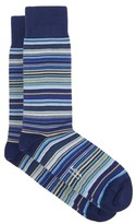 Paul Smith Striped Cotton-blend Ankle Socks - Mens - Blue Multi