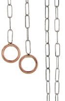 Marla Aaron 17-in. Square Link Chain Necklace - Sterling Silver and Rose Gold