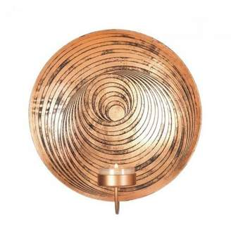 Camilla And Marc Tom Co, Dizzy Circle Design Plate Wall Sconce, 19.4 x 8.3 x 20.3 cm