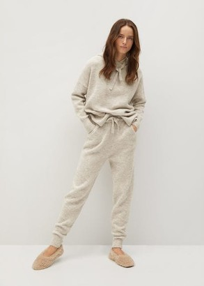 MANGO Knit jogger-style trousers