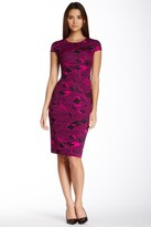 Muse M2949M Printed Jewel Scuba Sheath Dress