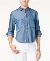 Velvet Heart Chambray Cropped Shirt