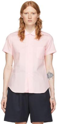 Comme des Garcons Pink Peter Pan Collar Short Sleeve Shirt