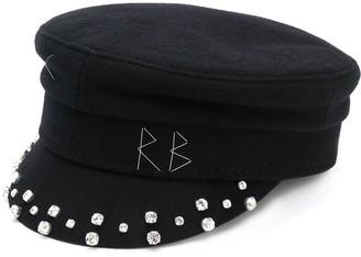 Ruslan Baginskiy Embellished Baker Boy Hat