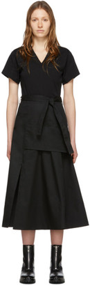 3.1 Phillip Lim Black Utility T-Shirt Dress