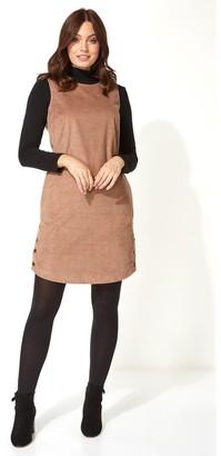 M&Co Roman Originals corduroy button pinafore dress